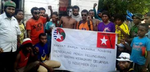West Papuans in Nabire support the launching of ILWP in the Netherlands. In Nabire and Dogiyai, 3 Papuans were shot and 25 arrested by the Indonesian police just for attending the gathering