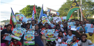 Pro West Papua for MSG rally in the Solomon Islands