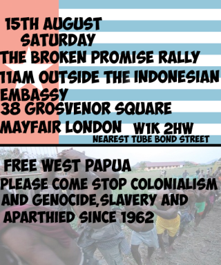 Free West Papua flyer August 15th
