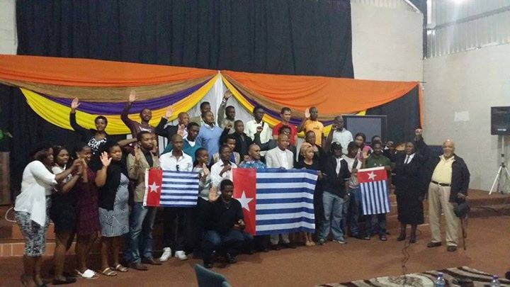 Benny Wenda meeting with West Papua Solidarity Cape Town and Pastor